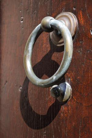 Old metal door-handle photo
