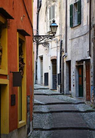 the cobblestones: Old street lamp