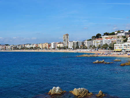 Lloret de Mar beach seascape