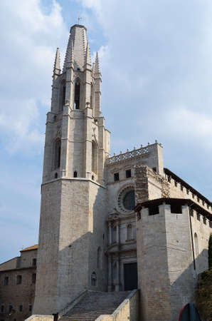 The medieval church of Saint Feliu in Gerona, Spain Stock Photo - 10957661