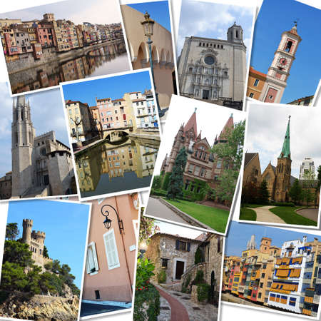 Travel photographs collage