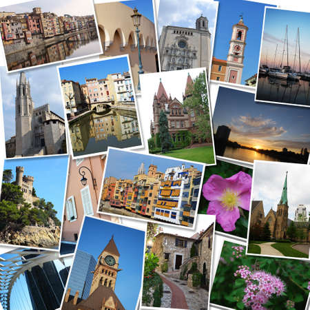 Travel photographs collage photo