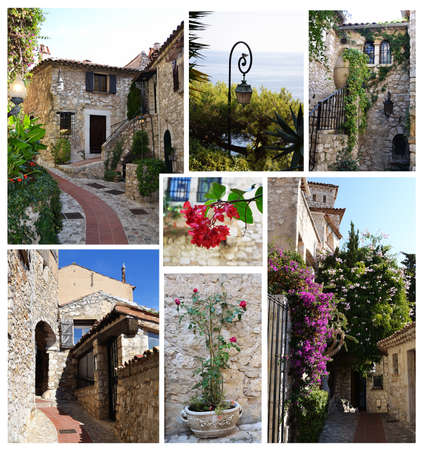 Eze village photographs collage