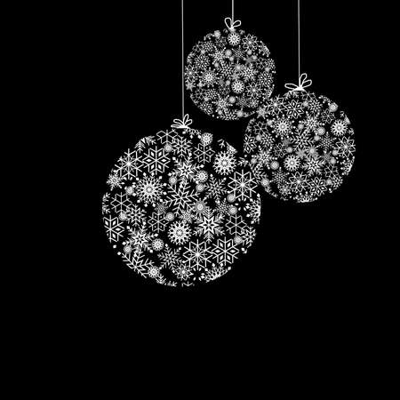Black and White Christmas balls