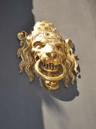 bronzy: Doorknocker with Lion