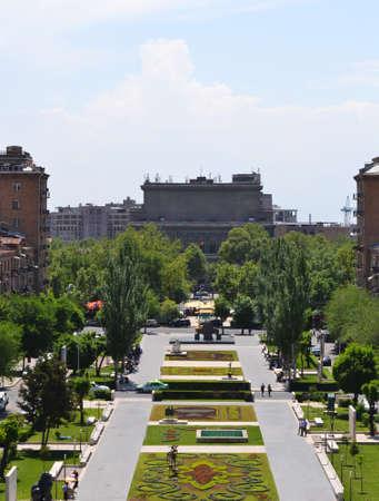 View of Yerevan from Cascade, Armenia  Stock Photo