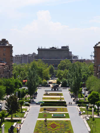 View of Yerevan from Cascade, Armenia  Stock Photo