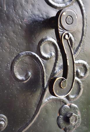 doorhandle: Old metal door-handle Stock Photo