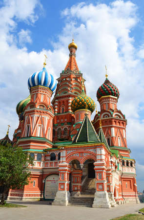 Saint Basil Cathedral on Red square photo