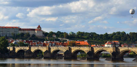 Prague - view with Vltava River photo