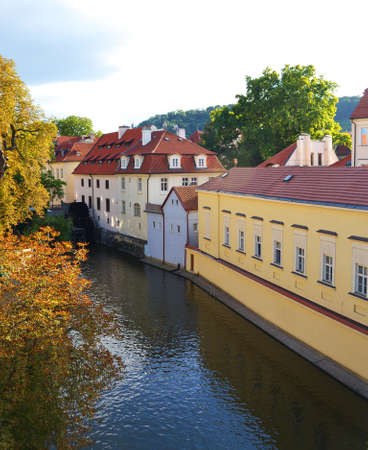 A water mill on a river in Prague Stock Photo - 15496637