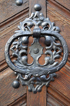 Old metal door-handle photo