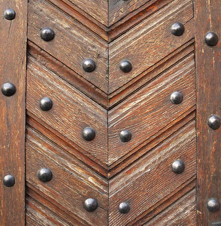 Close up of old wooden door Stock Photo