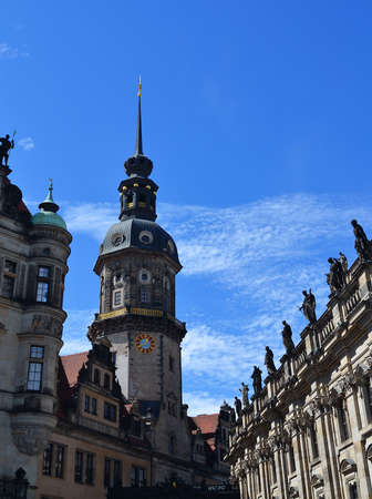Tower Haussmann St George Palace in Dresden Editorial