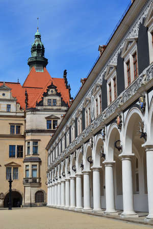 Horse court yard in Dresden