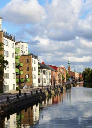 View of the Vallgraven Canal in Gothenburg, Sweden