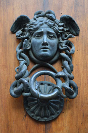 Decorative antique door handle photo