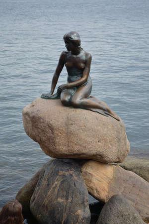 Little Mermaid in Copenhagen, Denmark Editorial