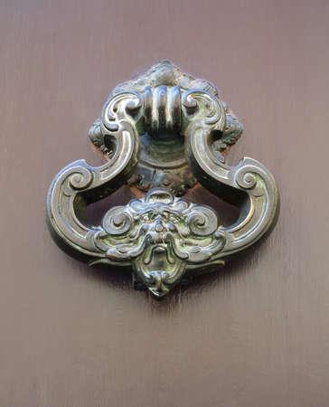 Decorative antique door handle Stock Photo - 21448053