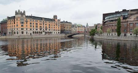 Riksdag building at Helgeandsholmen island, Stockholm, Sweden