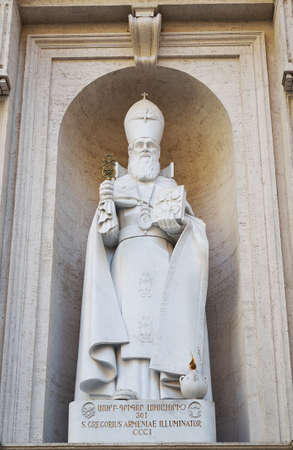 st peter s basilica: Statue of St   Gregorius Armeniae Illuminator, St Peter s basilica in Vatican, Rome, Italy