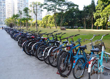 Row of bicycles Editorial