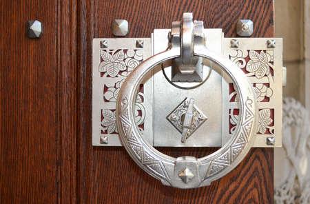 Decorative antique door handle photo