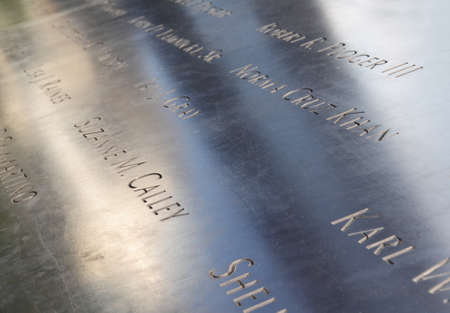 Memorial at Ground Zero in NYC