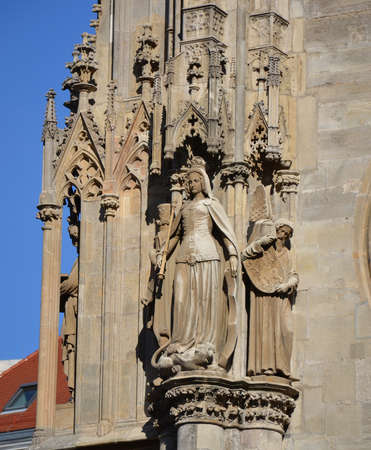 Detail of St. Stephans Cathedral in Vienna, Austria