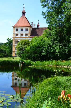 resides: Pond in Eggenderg castle in Graz, Austria