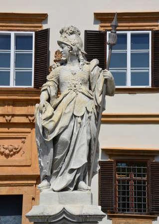 steiermark: Statue in front of Eggenderg castle in Graz, Austria