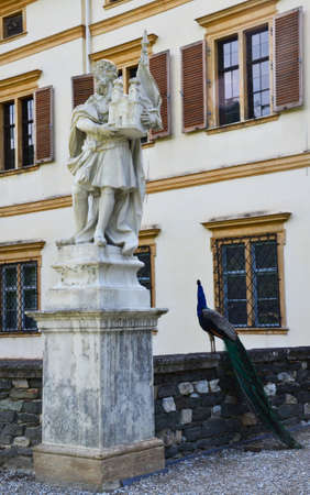 steiermark: Statue in Eggenderg castle in Graz, Austria