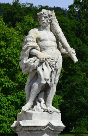 steiermark: Statue near Eggenderg castle in Graz, Austria