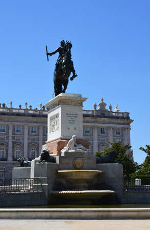 Monument to Philip IV in Madrid, Spain Stock Photo
