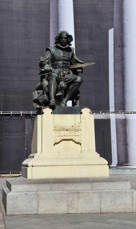 velazquez: Monument to Diego Rodriguez de Silva Velazquez in Madrid, Spain. Sculptor Aniceto Marinas.