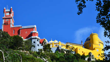 sintra: The Pena National Palace in, Sintra, Portugal