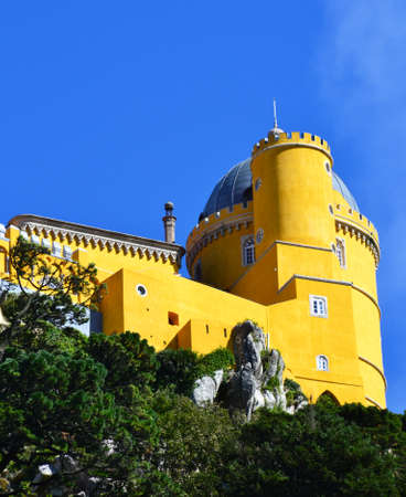 the pena national palace: The Pena National Palace in, Sintra, Portugal