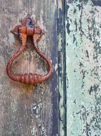 door handle: Old door handle Stock Photo