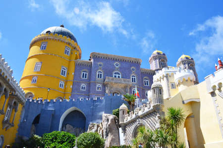 pena: The Pena National Palace in, Sintra, Portugal