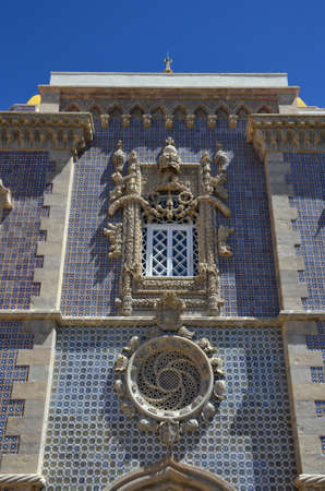 the pena national palace: Detail of the Pena National Palace in Sintra, Portugal