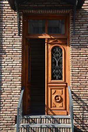 ethnographical: Old wooden door
