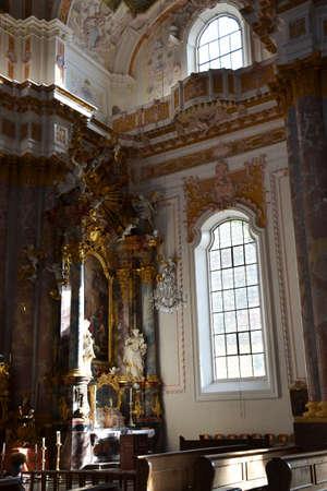 pompous: Interior of Furstenfeld church, Furstenfeldbruck, Germany Editorial
