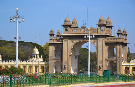 Gate of Mysore palace, India Editorial