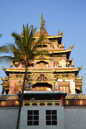 Bylajkuppe Tibetan monastery in South India