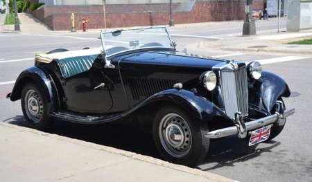 Vintage car in Minneapolis, MN, USA