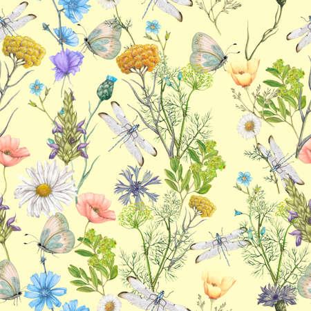 Seamless botanical pattern Standard-Bild