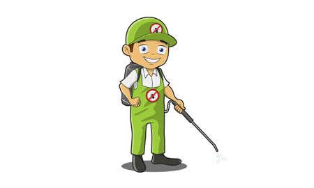 pest control equipment: Pest Control Man