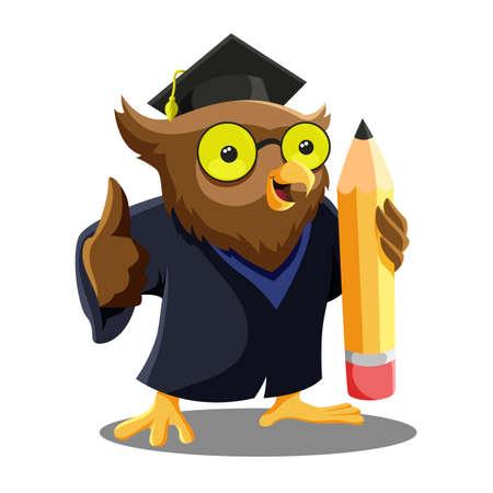 Owl Graduation Mascot