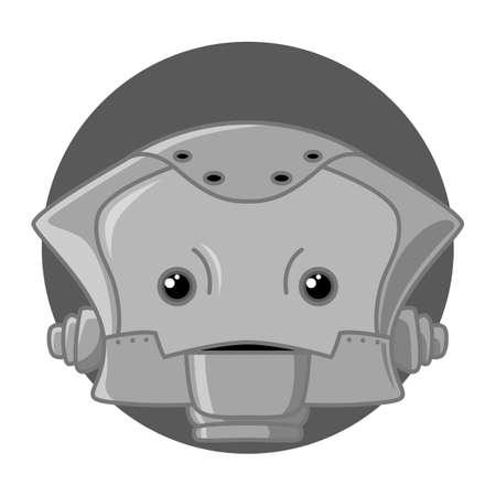 robot head: Robot Head Character