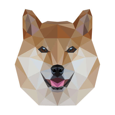 Low Poly Dog Ilustrace